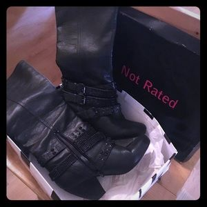 Like new Not Rated Cocktail Queen Boots Size 10